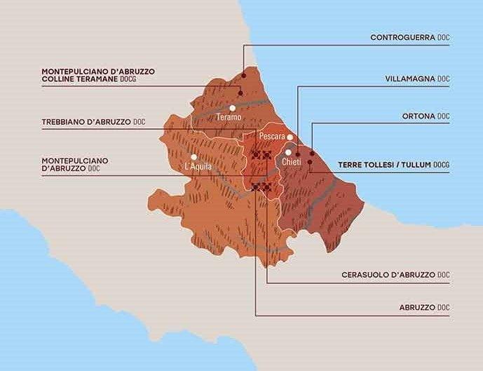 Abruzzo Wine Map