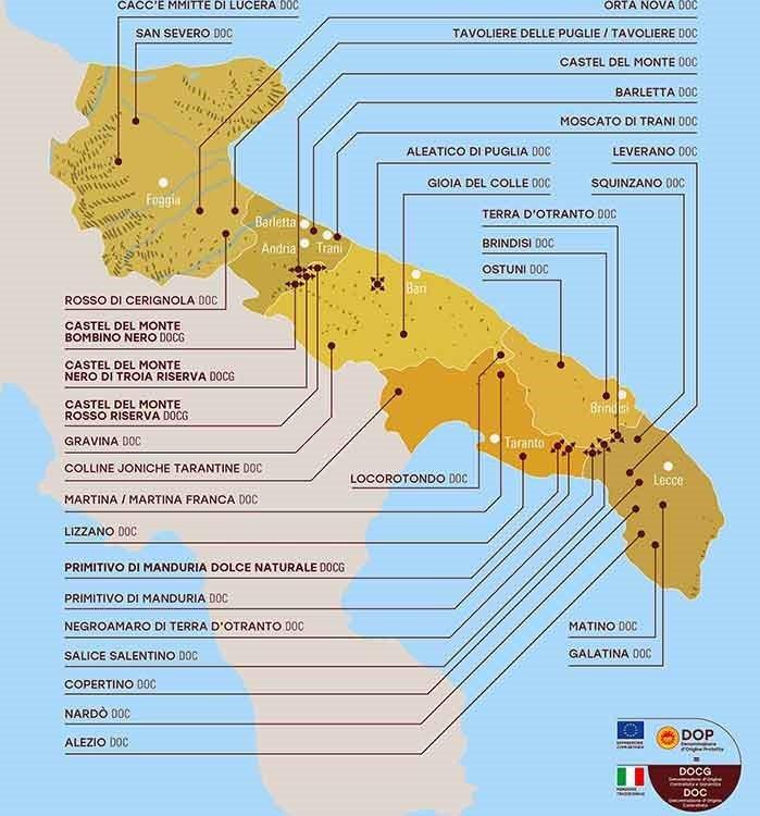 Apulia wine Map