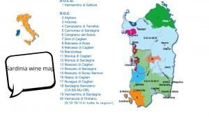 Sardinia wine map