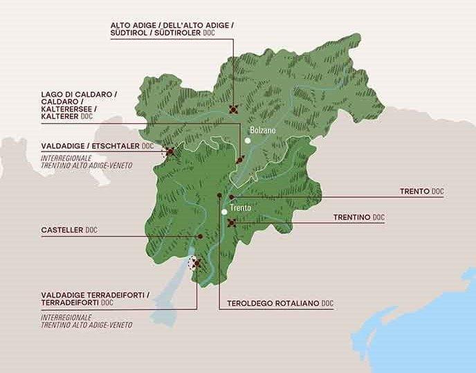 Trentino Alto Adige wines