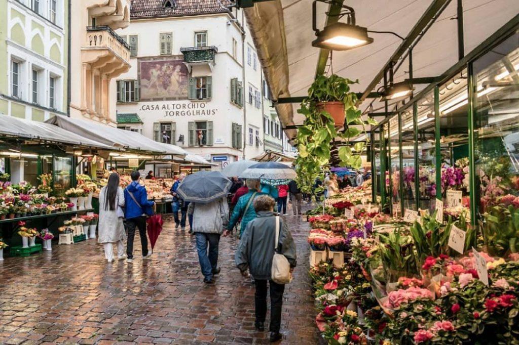 Piazza delle Erbe, Bolzano, Italy
