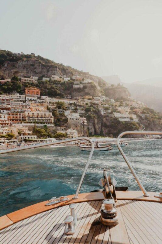 boat ride in Positano