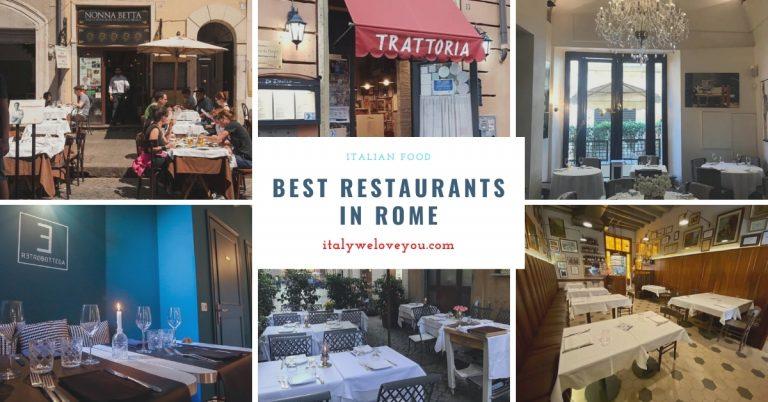The 10 Best Restaurants in Rome